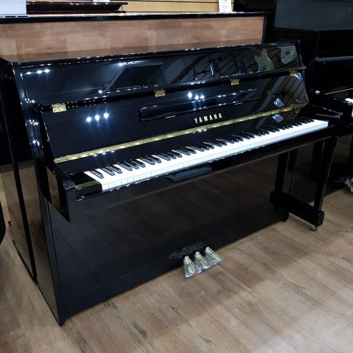 Yamaha B1 Upright Piano, in a black case, for sale.