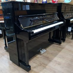 New Yamaha U1 upright piano, in a black polyester case, for sale.