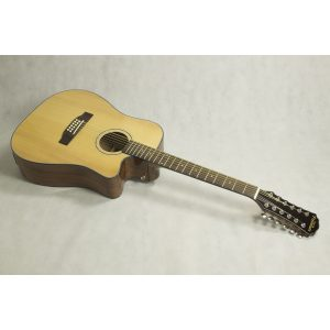 Freshman Maple Ridge FA1DCE12 Electro Acoustic 12 String Dreadnought Cut Away Guitar