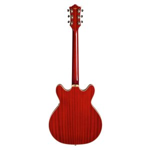 Guild Newark Starfire V Cherry Red Electric 6 String Semi Hollow Double Cutaway Guitar With Bigsby