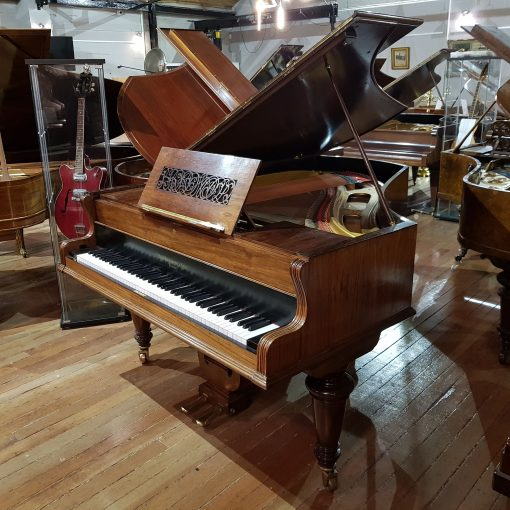 Used Broadwood barless grand piano, in a rosewood case, for sale.