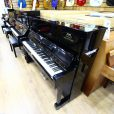Yamaha U1 Upright Piano Black Polyester Certified Refurbished Sherwood Phoenix Pianos 2