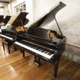 Samick SG-140C baby grand piano, in a black polyester case, for sale.