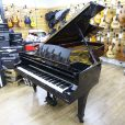 Steinway Model D concert grand piano, in a black polyester case, for sale.