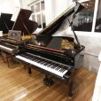 Weber W175 baby grand piano in a black polyester case for sale.