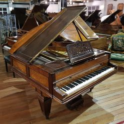 Kirkman Baby Grand Piano, finished in an inlayed rosewood case, for sale.
