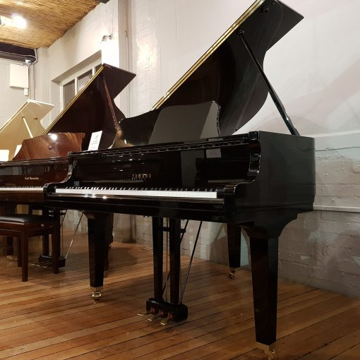 Yamaha GA1 baby grand piano, in a black polyester case, for sale.