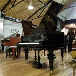 Restored Bluthner grand piano, Jubilee frame, in a black case, for sale.