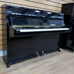 Petrof upright piano, in a black lacquered case for sale.