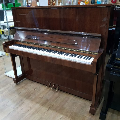 Petrof upright piano, in a mahogany polyester case for sale.
