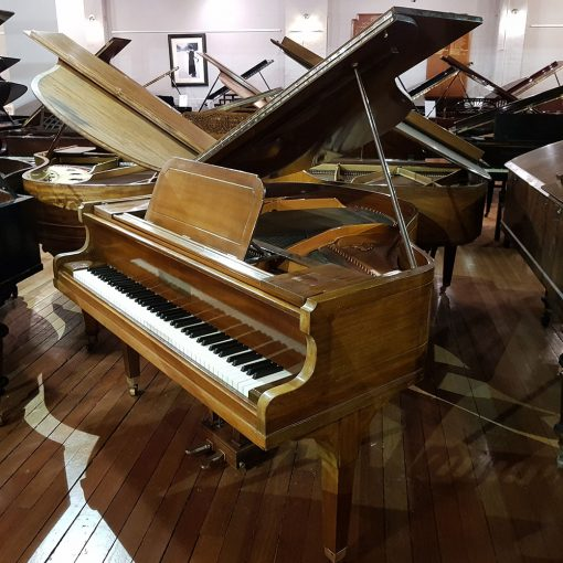 John Broadwood baby grand piano, finished in a rosewood case for sale