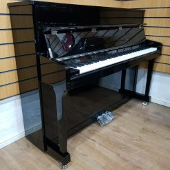 Steinhoven SU-113 upright piano, in a black polyester case, for sale.