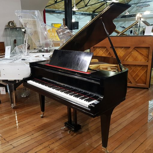 Welmar baby grand piano, in a french polished black case for sale