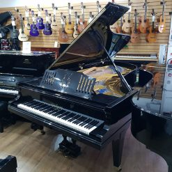 Restored Bluthner concert grand piano, in a black polyester case for sale.