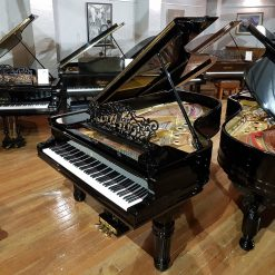 Restored Steinway Model B grand piano, in a black polyester case. for sale.