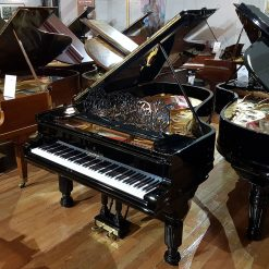 Restored Steinway & Sons Model B grand piano, in a black polyester case.