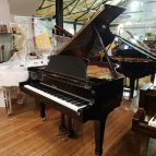 Steinway & Sons Boston GP163 baby grand piano in a black case for sale