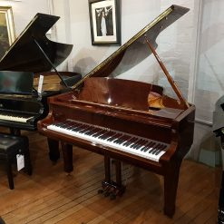 New Steinhoven GP148 baby grand piano, in a walnut case for sale.