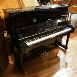 Used Yamaha U1 for sale, in a black polyester case.