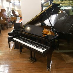Challen GP142 baby grand piano for sale, finished in a black polyester case.