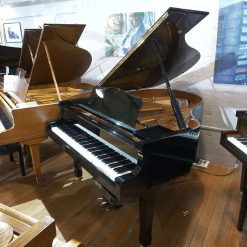 Used Yamaha C2 Disklavier baby grand piano for sale, in a black polyester case