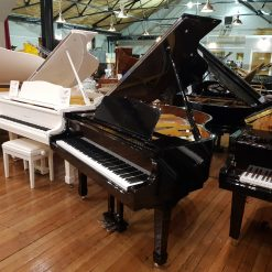 New Steinhoven SG148 baby grand piano, in a black polyester case for sale.