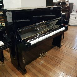 Used Kawai BL-51 upright piano for sale, in a black case.