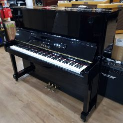 Used Kawai KS-2F upright piano for sale, in a black polyester case.